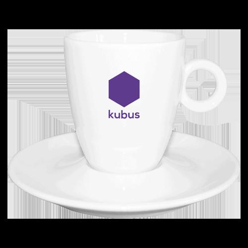Kubus Koffiekop + schotel
