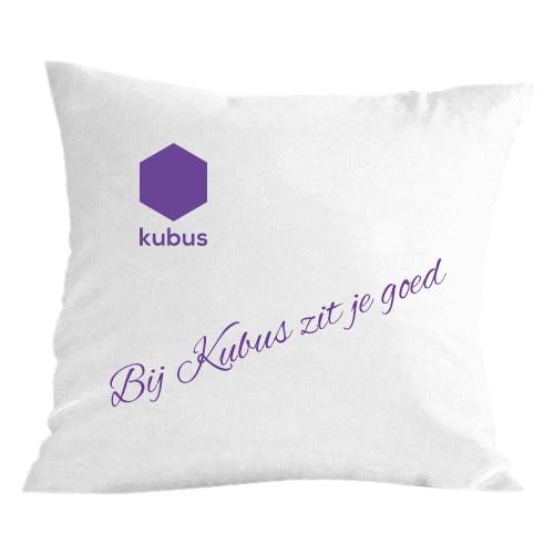 Kussen met Kubus logo